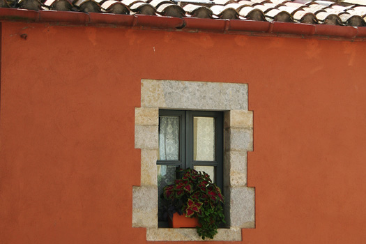 Window box in Girona in Catalunya, Spain