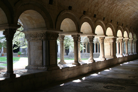 A few of the 112 columns of the 12th century Catedral cloister