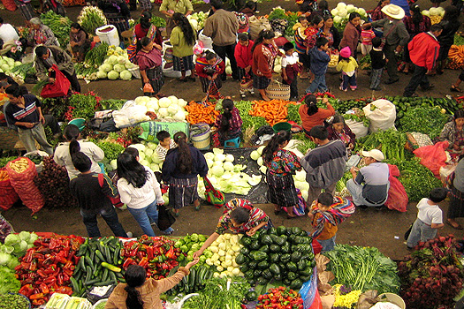 Fruit and vegetable market in Chichicastenango
