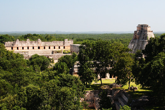 View from the Gran Pirámide towards the Nun's Quadrangle